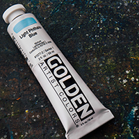 Free Golden Heavy Body Acrylic Paint 60ml Light Phthalo Blue : When you spend £50 or more on Golden Heavy Body