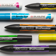 Talens : Ecoline Waterbrush Pens : Save up to 30% off RRP