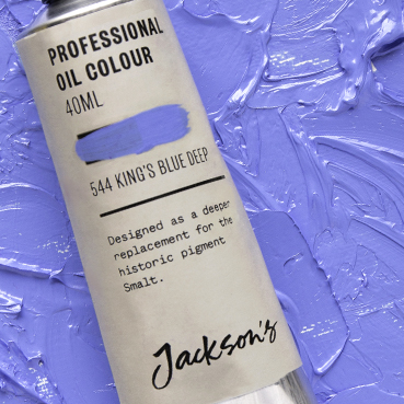 Jackson's Professional Oil Colours: Kings Blue Deep & Manganese Violet