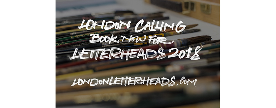 Book now for the London Letterheads