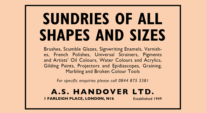 Sundries of all shapes and sizes