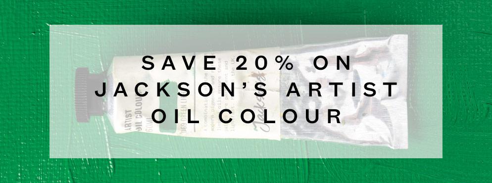 Save 20% on Jackson's Artist Oil Colour