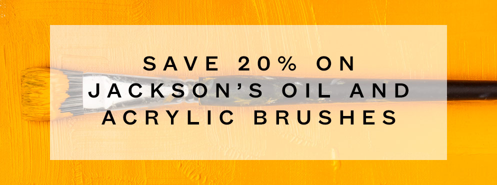 Save 20% on Jackson's Oil and Acrylic Brushes