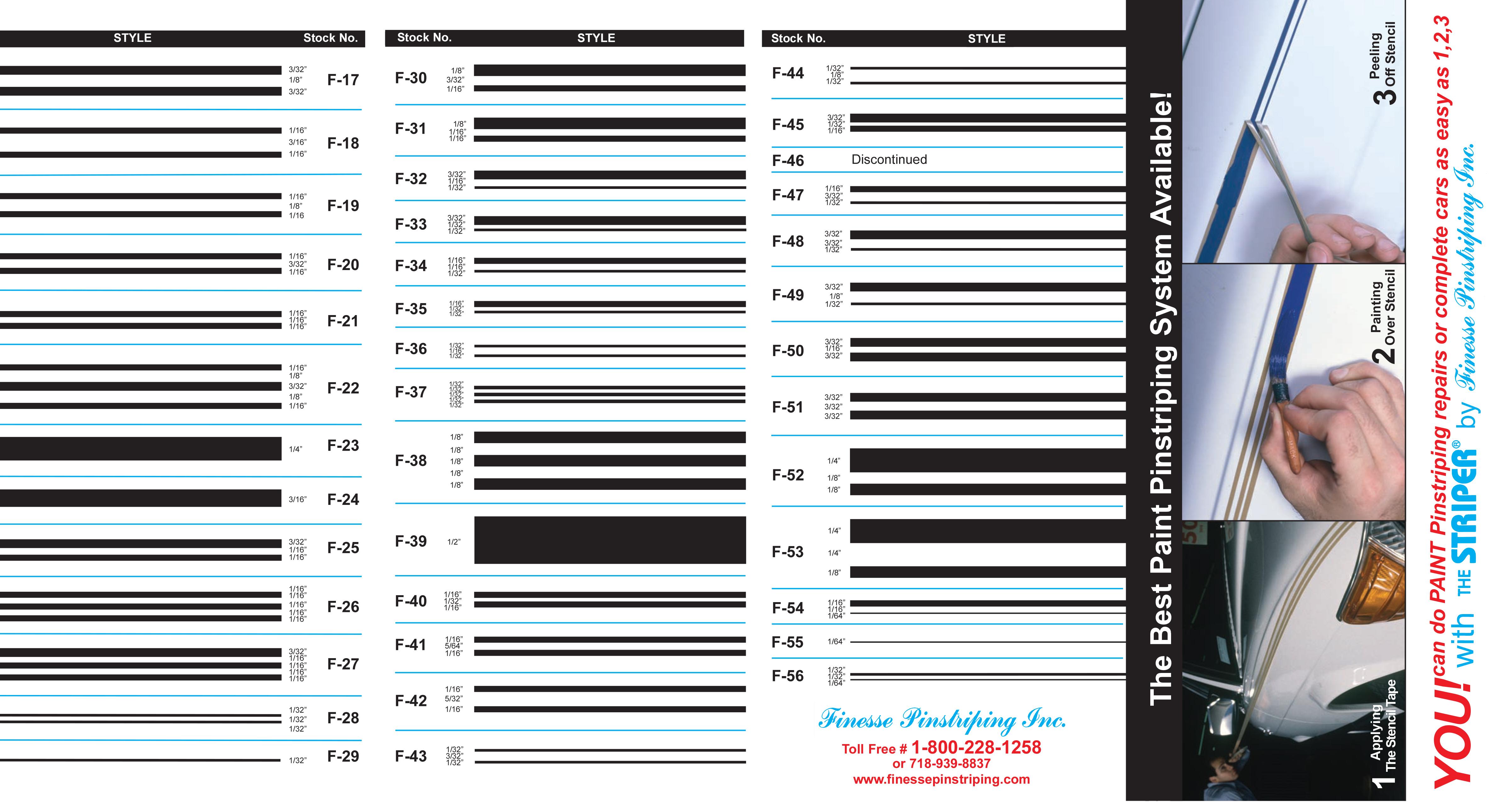 Finesse Single Line Tape