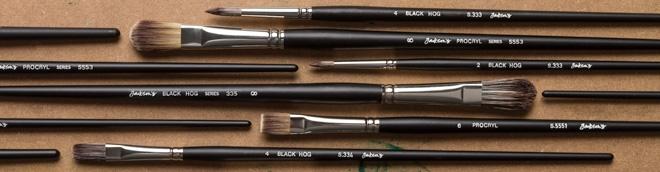 Jackson's : Black Hog & Procryl Oil Brushes : Save an extra 15%