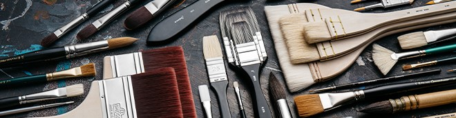 Brushes for Priming, Varnishing & Gilding
