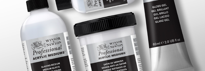 W&N : Professional Acrylic Mediums