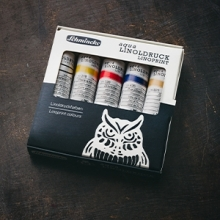 Schmincke : Aqua Linoprint Ink Set of 5 : Now £17.50