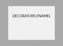 Decorators Enamel