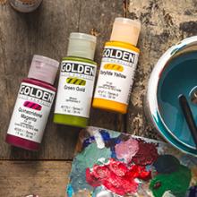 Golden Fluid Acrylics: Get a free 8oz Golden Soft Gel Gloss