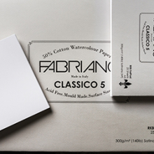 Fabriano Classico 5 : Watercolour Paper Fat Pads : Save 20% off RRP