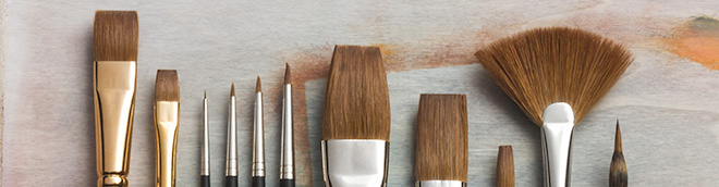 Jackson's : Red Sable Brushes : Save 20%