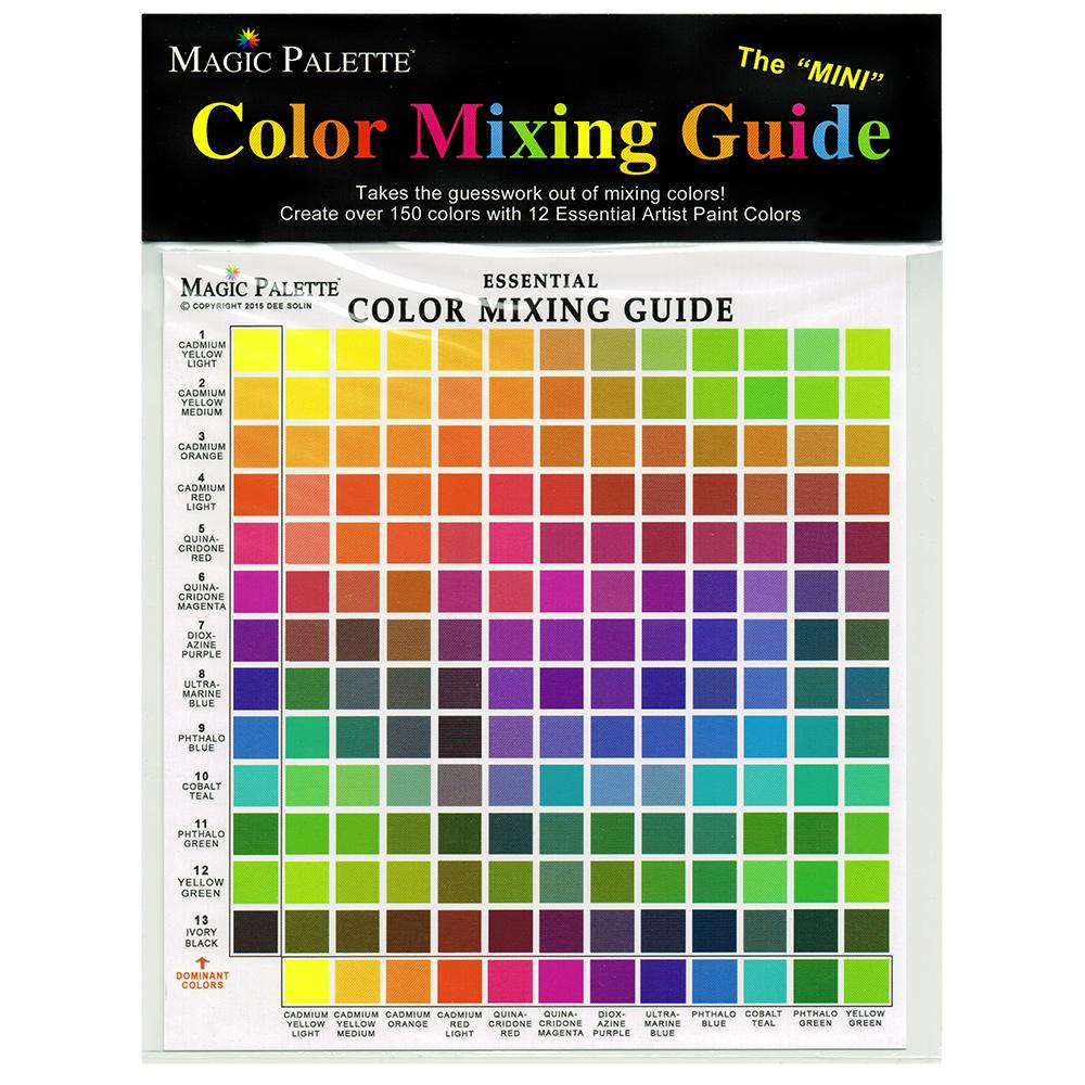 Magic Palette Mini Essential Color Mixing Guide Jackson S Art Supplies