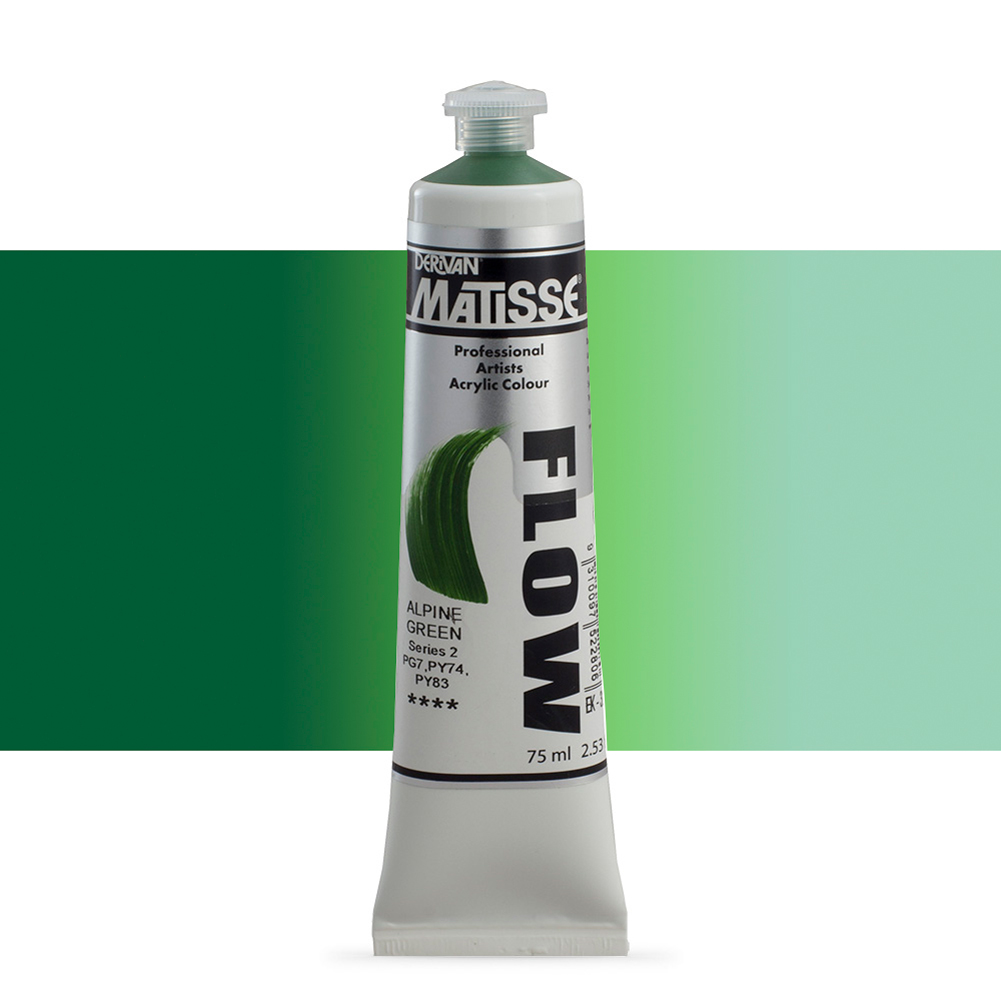 Derivan Matisse Flow Acrylic Paint 75ml Alpine Green Brands Jackson S Art Supplies