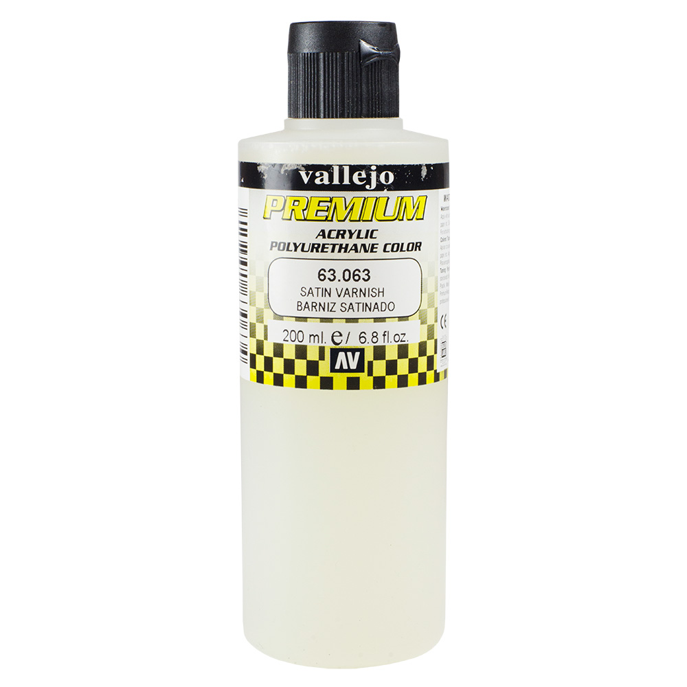 Vallejo : Premium Airbrush Paint : 200ml : Satin Varnish