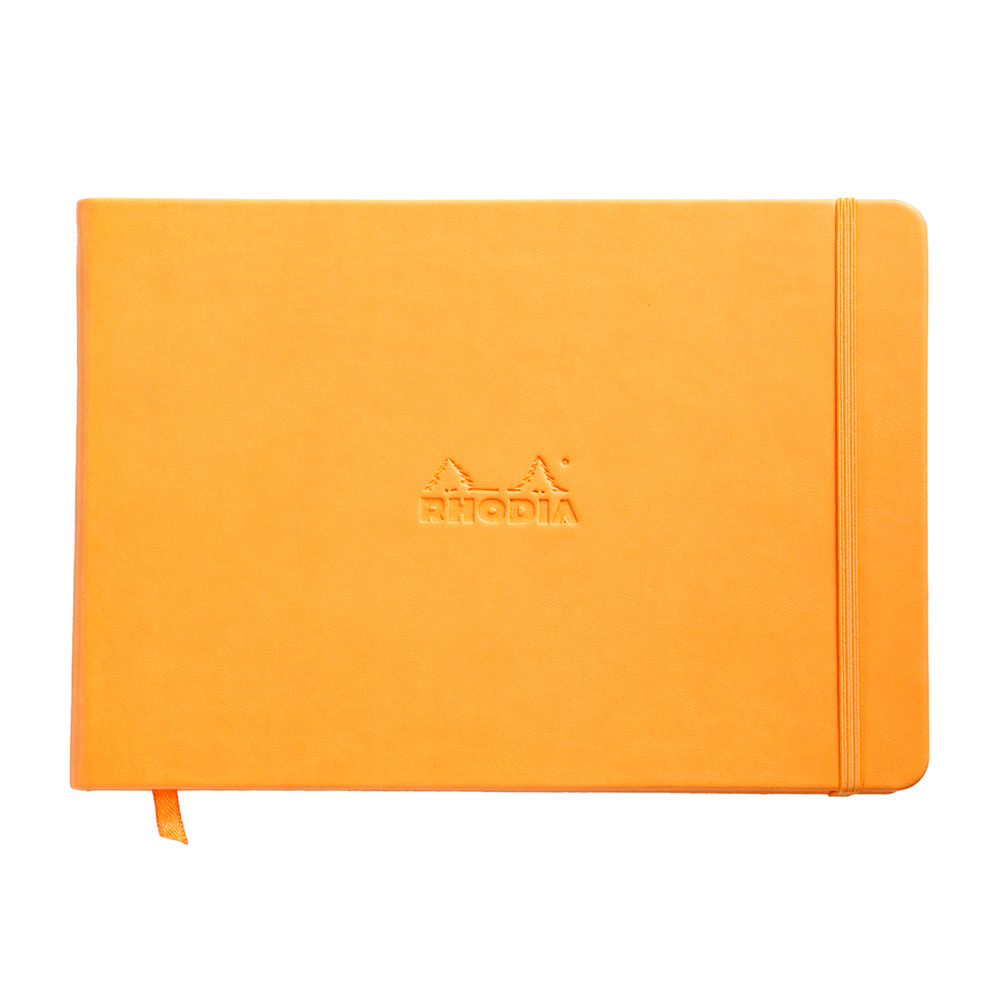 Rhodia Webnotebook Landscape Unlined Ivory Pad Black Cover 96 Sheets A5