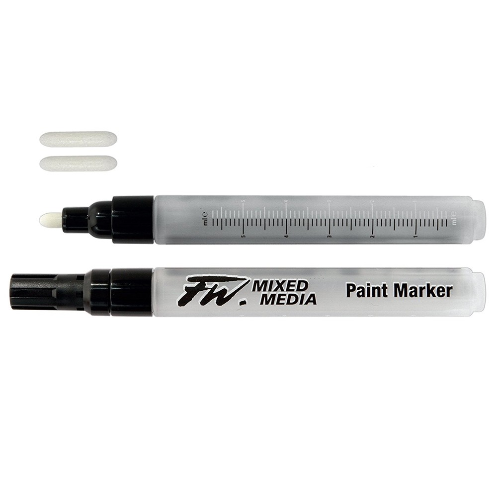 Daler Rowney : FW Mixed Media Paint Marker : Round 2-4mm : Pack of 2 & Nibs