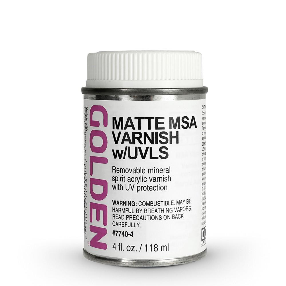Golden : MSA (Mineral Spirit Acrylic) Varnish : Matte : 119ml