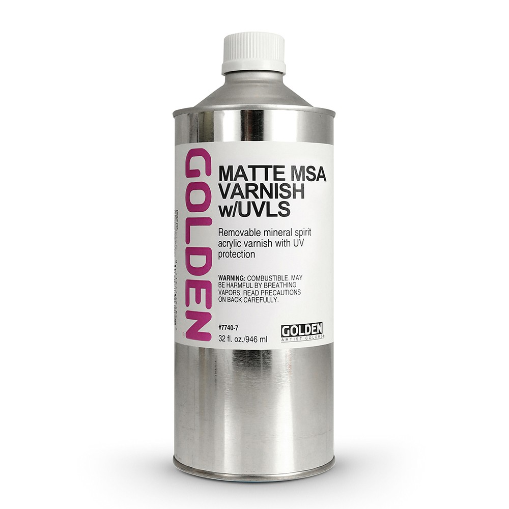 Golden : MSA (Mineral Spirit Acrylic) Varnish : Matte : 946ml