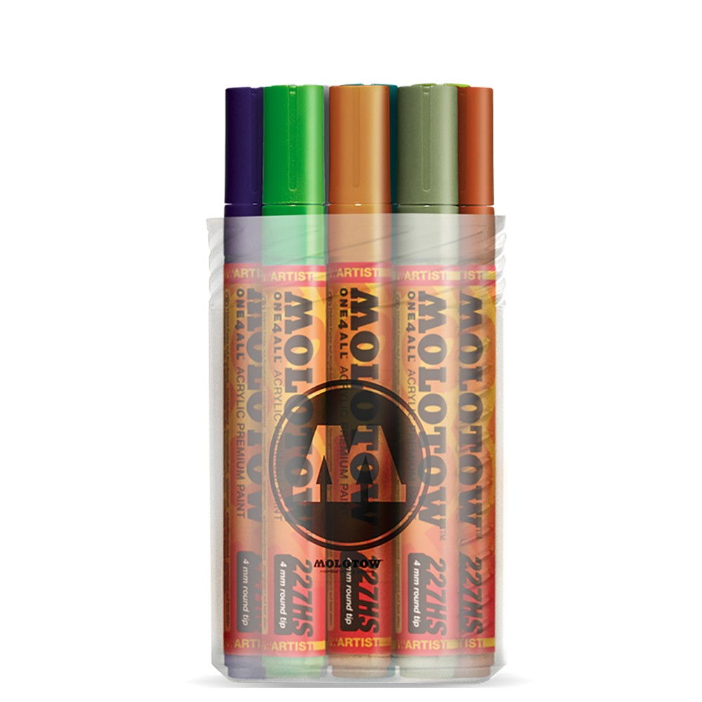Molotow : One4All : 227HS : Acrylic Marker : 4mm : Main Kit II : Set of 12