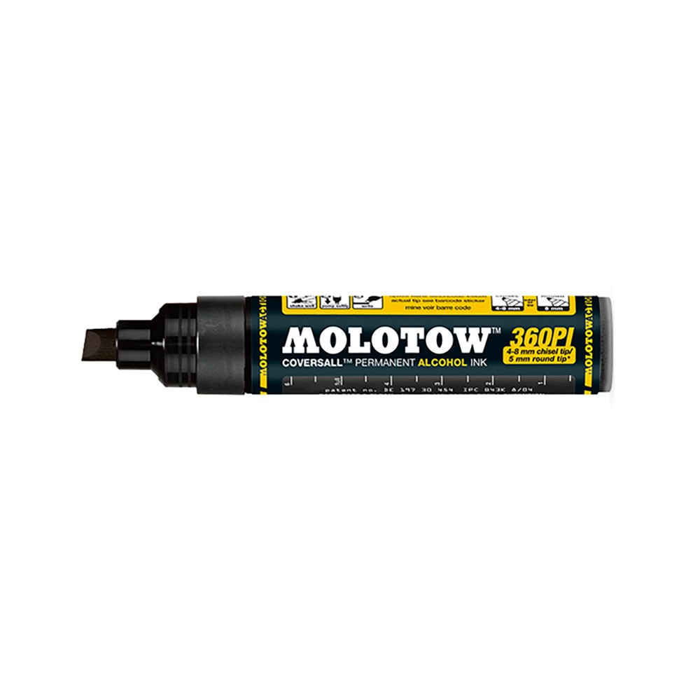 Molotow : Masterpiece 360PI Coversall Marker : 4-8mm : Signal Black
