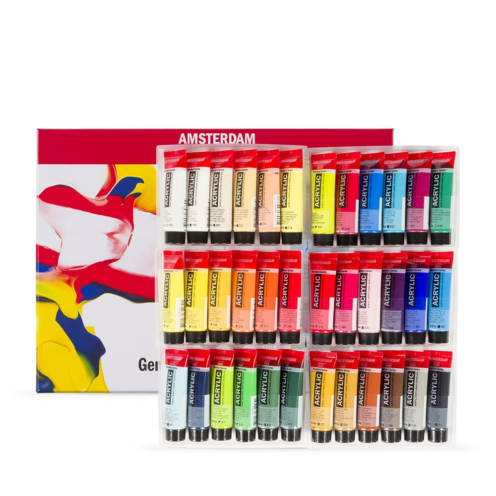 Royal Talens : Amsterdam Standard : Acrylic Paint : 20ml : General Selection Set of 36