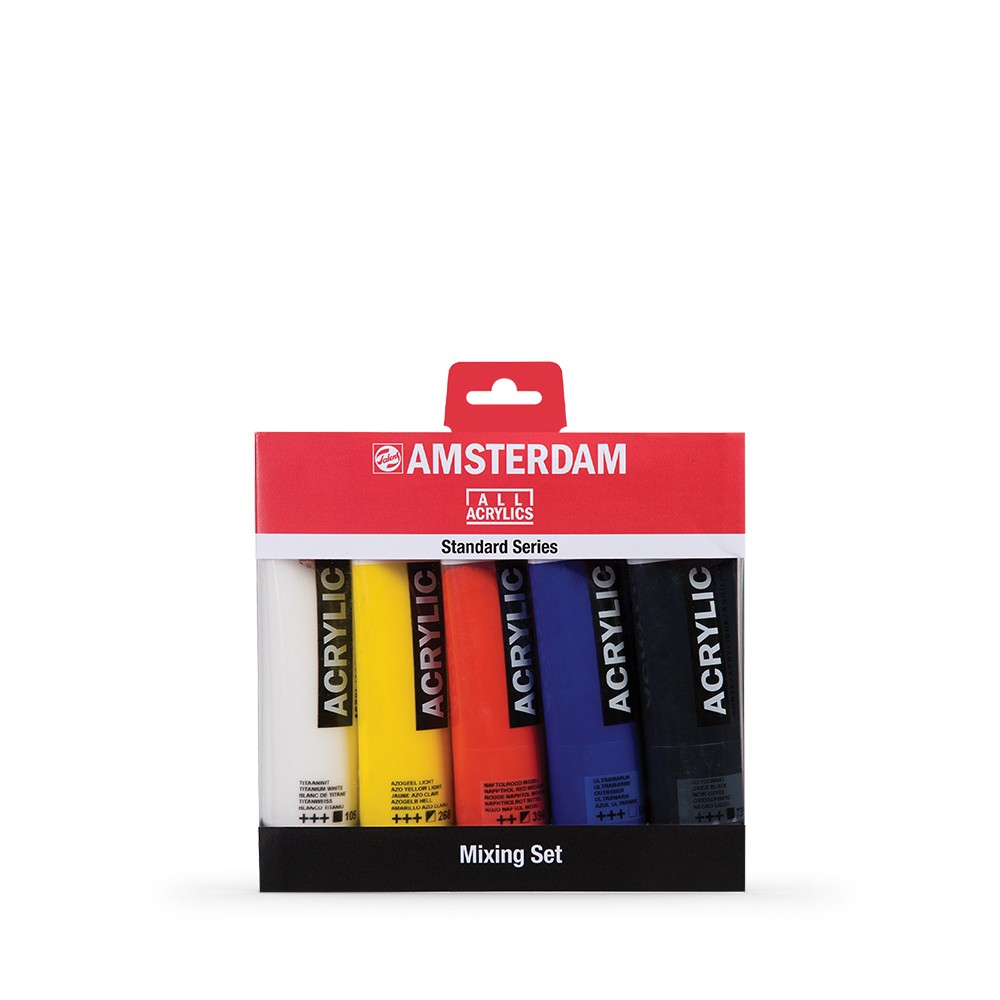 Royal Talens : Amsterdam Standard : Acrylic Paint : 120ml : Mixing Set of 5