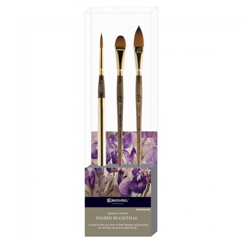Escoda : Signature Brush Set : Ingrid Buchthal 2 : Series 1214 / 1326 / 1327
