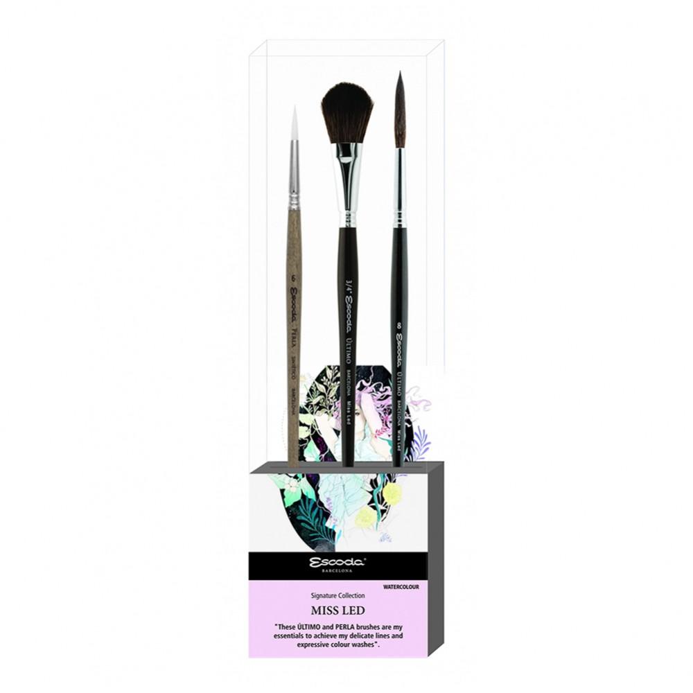 Escoda : Signature Brush Set : Miss Led 1 : Series 1430 / 1528 / 1533