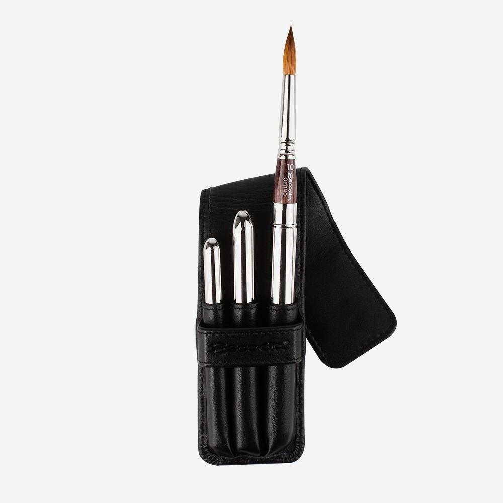 Escoda : Watercolour Travel Brush : Optimo : Series 1251 : Set of 3