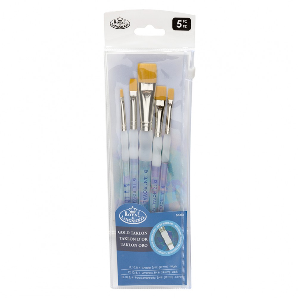 Royal & Langnickel : Soft Grip Brush Flat Set
