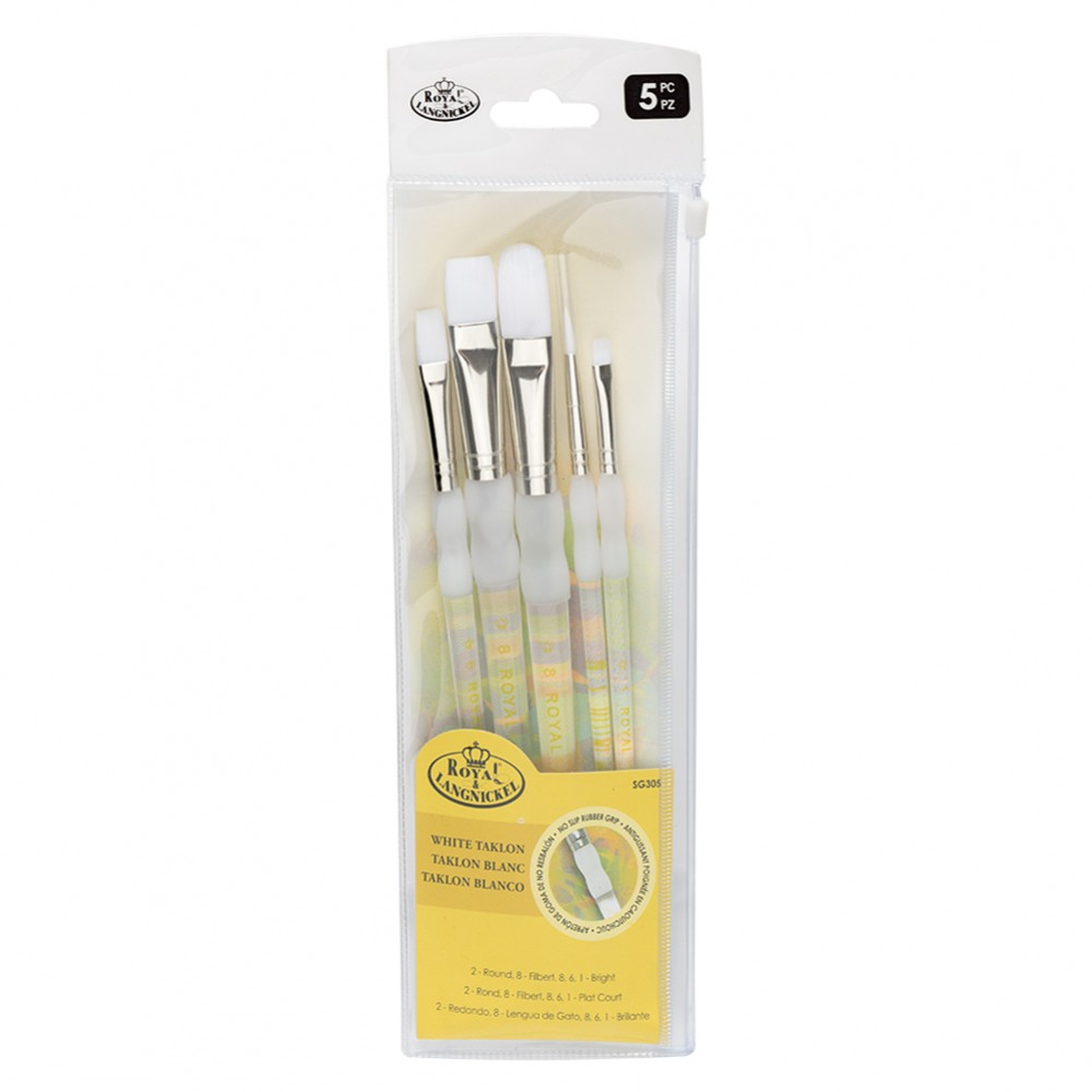 Royal & Langnickel : Soft Grip Brush Taklon Set