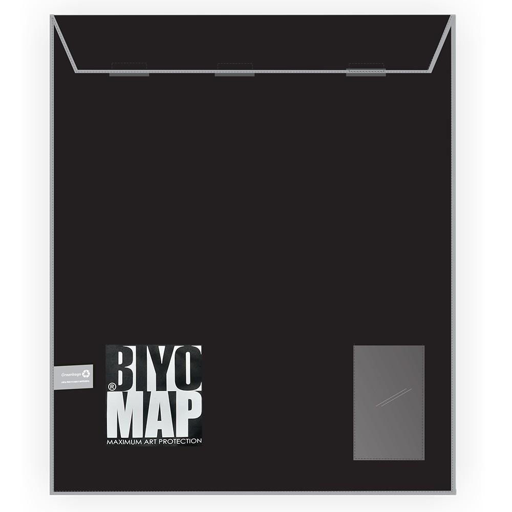 Biyomap : Reusable Artwork Shipping and Storage Bag : 130x160cm (Grey)
