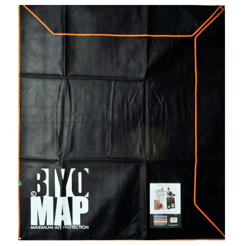 Biyomap : Reusable Artwork Shipping and Storage Bag : 140x160cm (Orange)