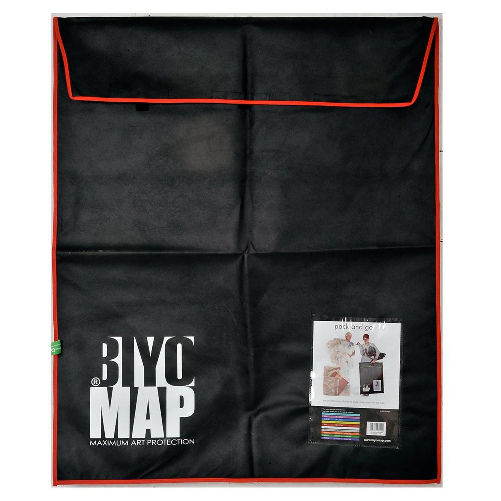 Biyomap : Reusable Artwork Shipping and Storage Bag : 90x110cm (Red)