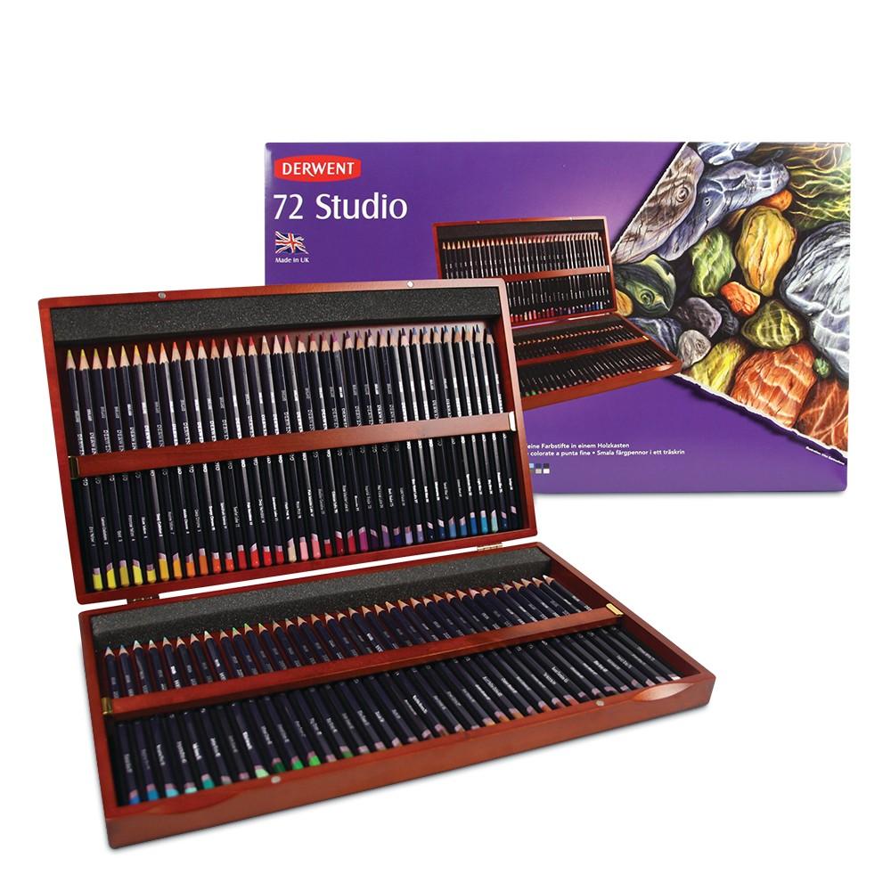 Derwent : Studio Pencil : Wooden Box Set of 72
