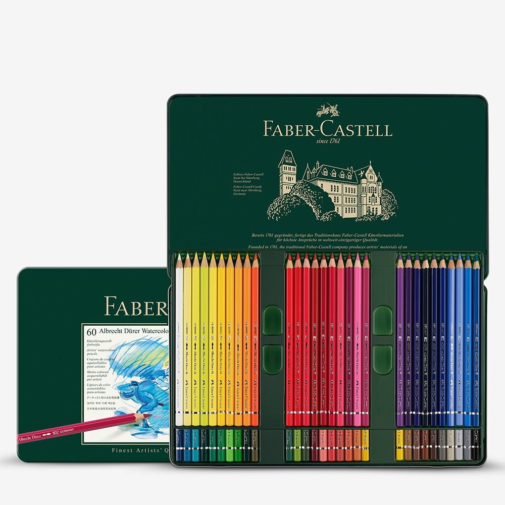 Faber Castell : Albrecht Durer Watercolour Pencil : Metal Tin Set of 60