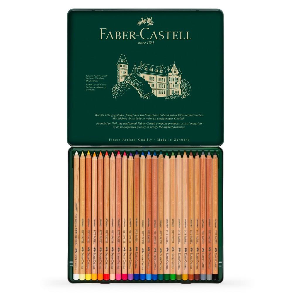 Faber Castell : Pitt Pastel Pencil : Metal Tin Set of 24