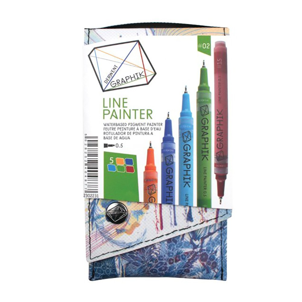 Derwent : Graphik Line Painter Pen : Set of 5 : Palette 02