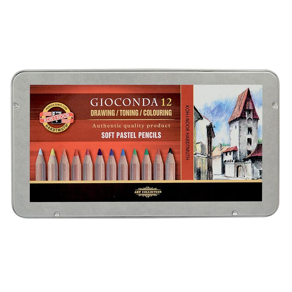 Koh-I-Noor : Gioconda 8827 : Soft Artist Pastel Pencils : Set of 12