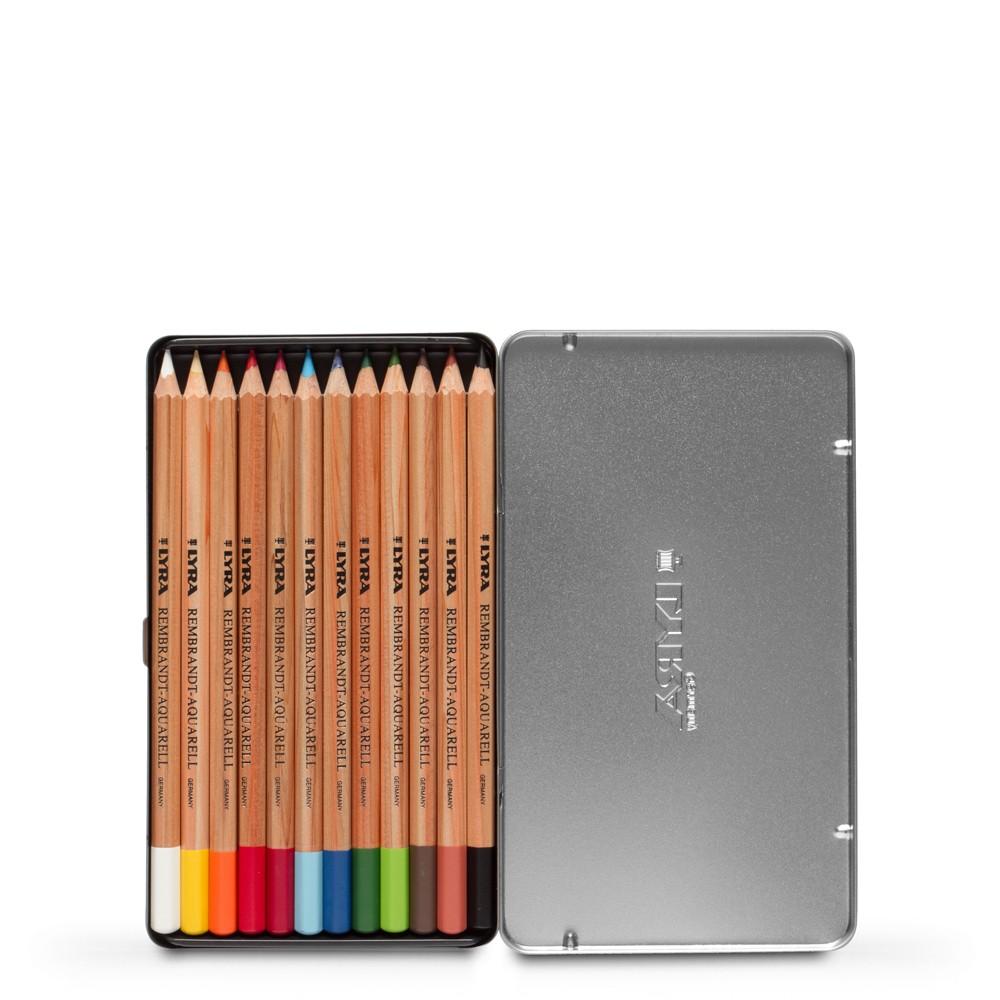 Lyra : Rembrandt Aquarell Water Soluble Coloured Pencil Set : Metal Box 12 pcs