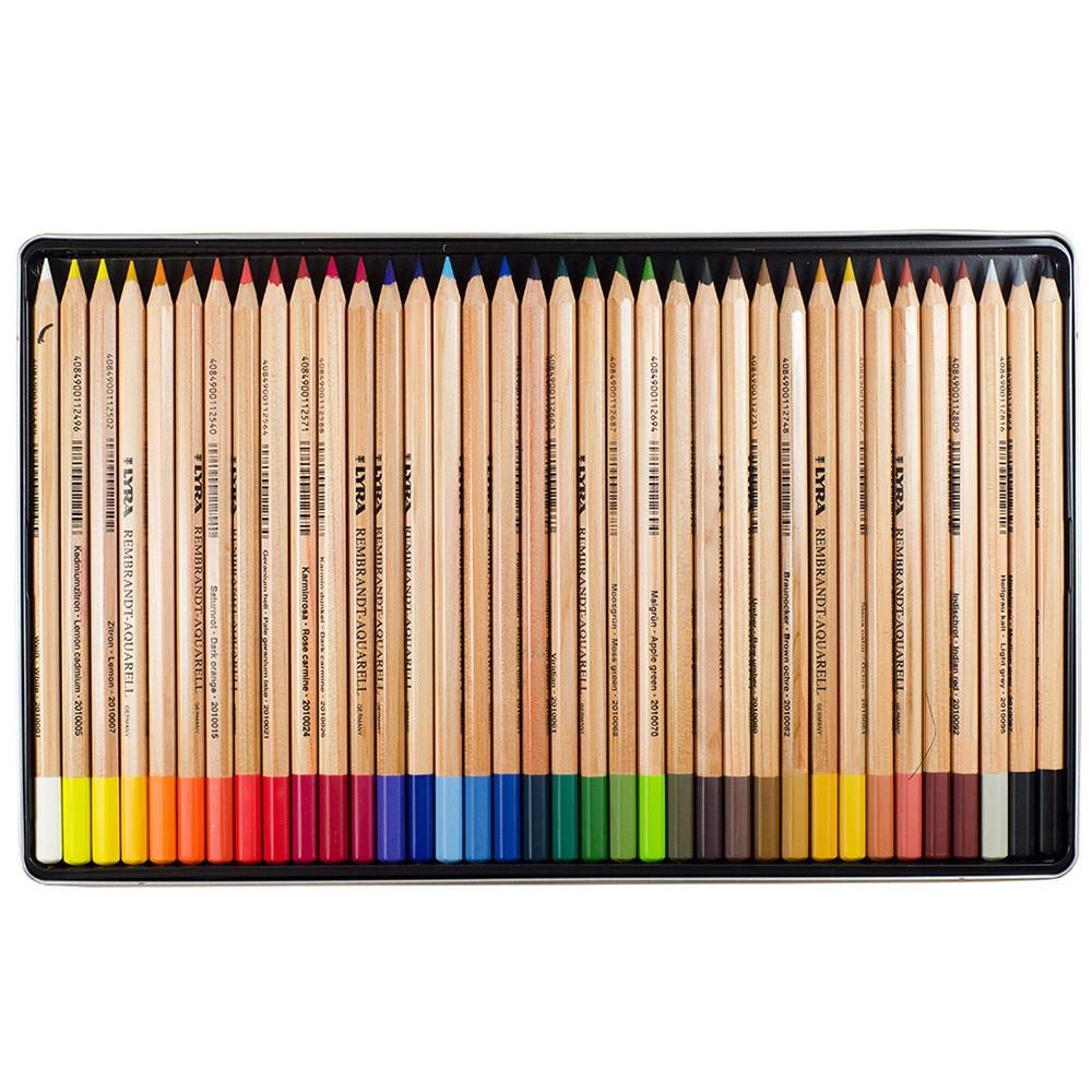 Lyra Rembrandt Aquarell Water Soluble Coloured Pencil Set : Metal Box 36 pcs