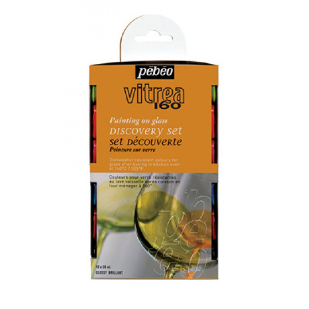 Pebeo : Vitrea Glass Paint 160 DISCOVERY SET 12 x 20ml