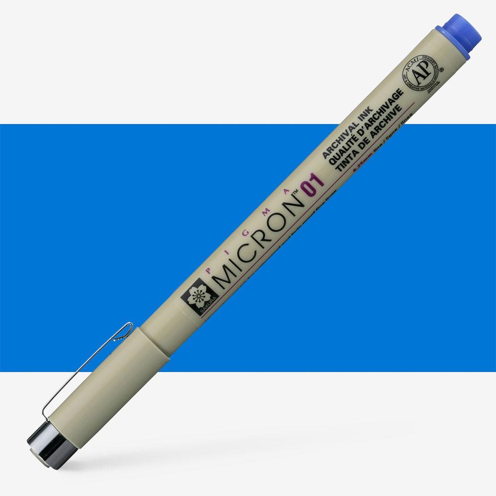 Sakura : Pigma : Micron Pen 01 : Blue : 0.25 mm