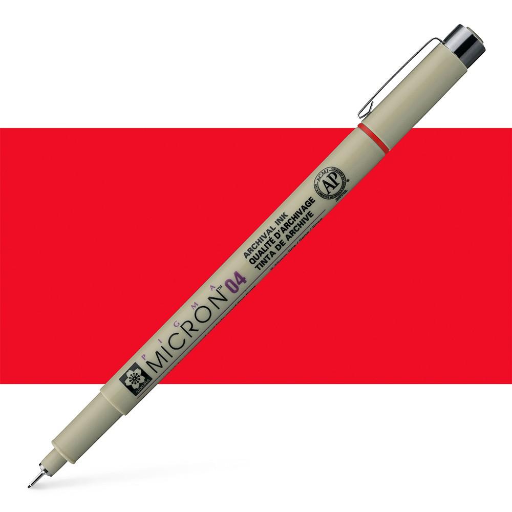 Sakura : Pigma : Micron Pen 04 : Red : 0.4mm