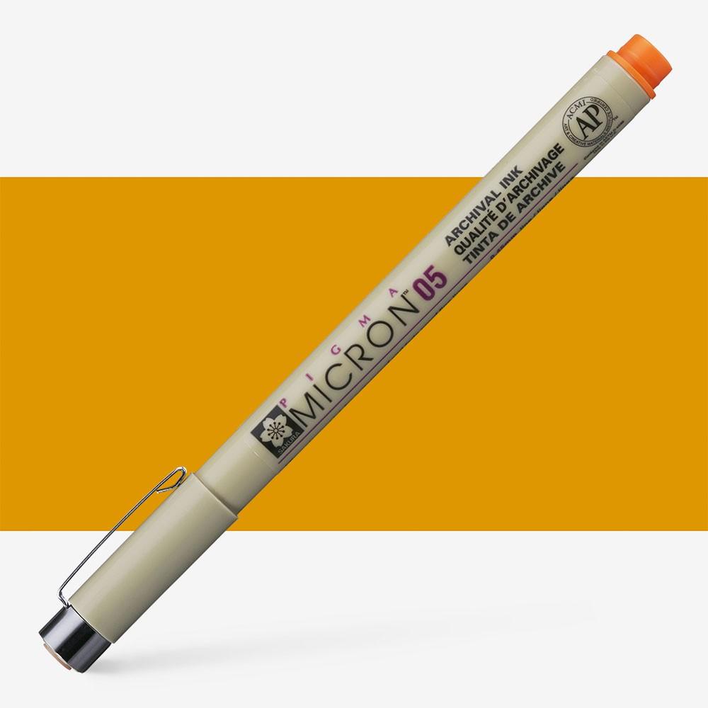 Sakura : Pigma : Micron Pen 05 : Orange : 0.45 mm