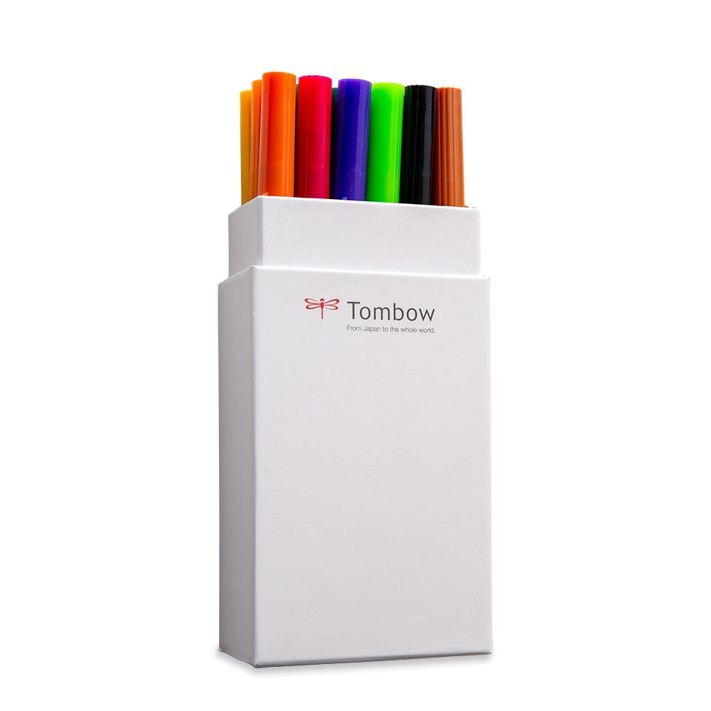 Tombow : Art Dual Blendable Brush Pens : Set of 18 : Primary Colours