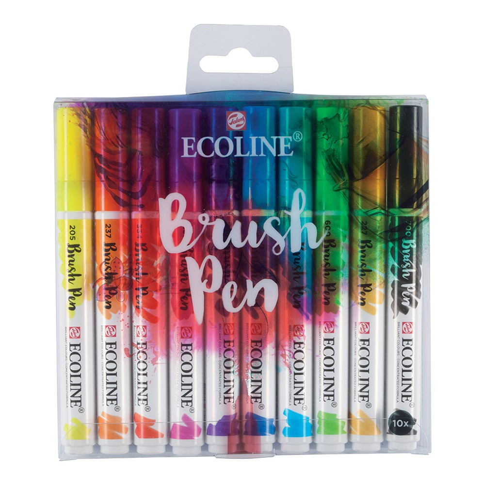 Royal Talens : Ecoline : Watercolour Brush Pen : Set of 10