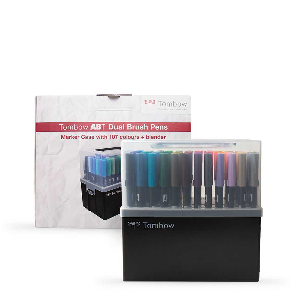Tombow : Art Dual Brush Pens : Assorted Colours : Set of 108