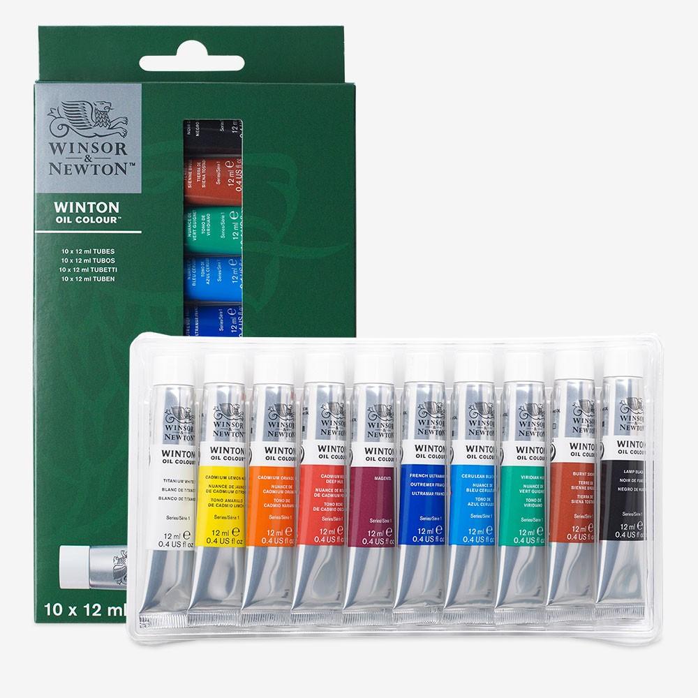 Winsor & Newton : Winton : Oil Paint : 12ml : Set of 10